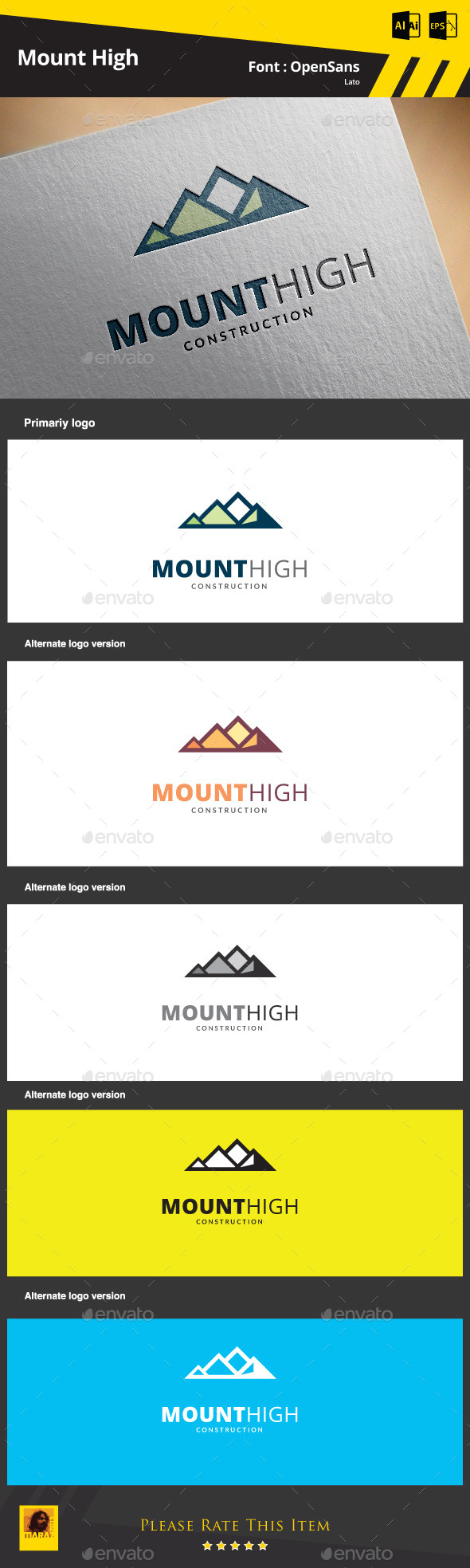 GraphicRiver Mount High Construction 9315429