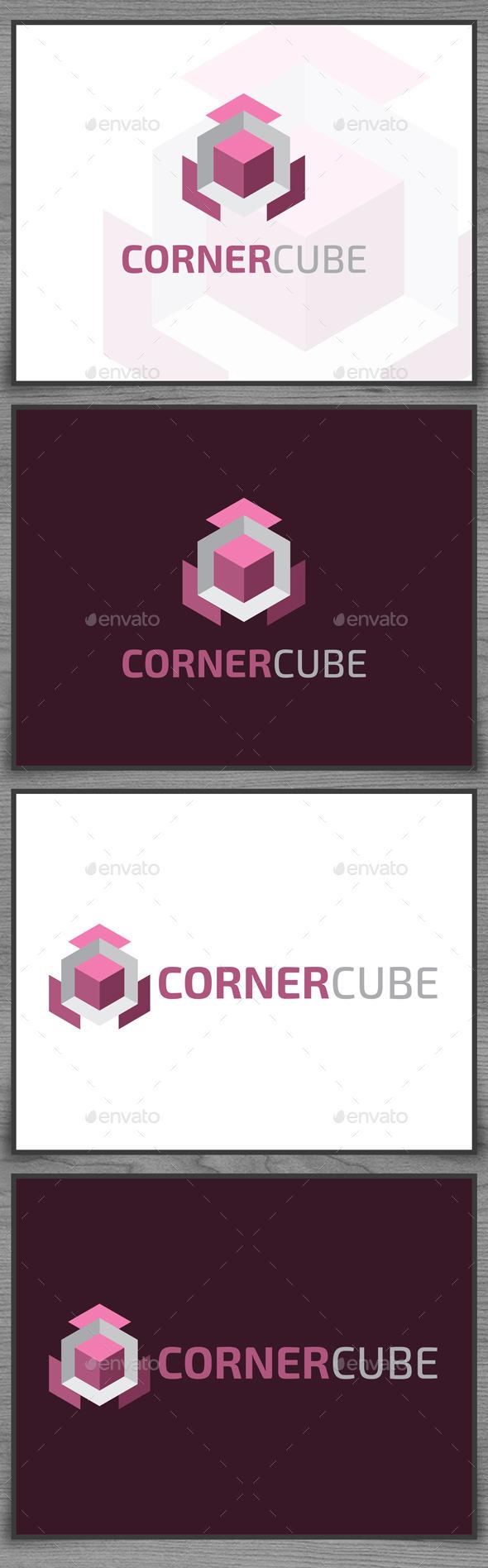 GraphicRiver Corner Cube Logo 9315490