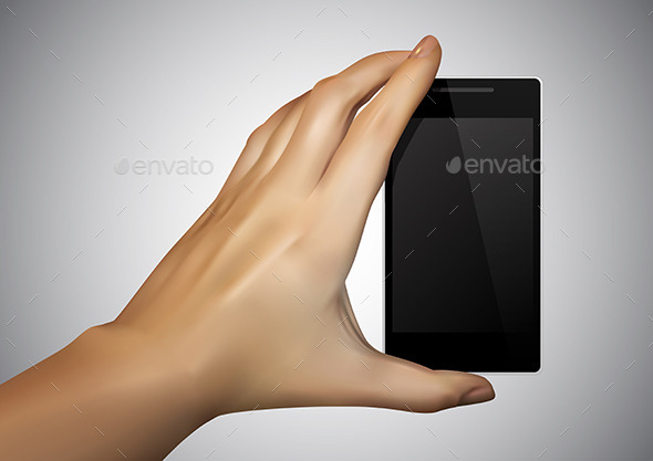 GraphicRiver Hand Holding a Smartphone 9315646