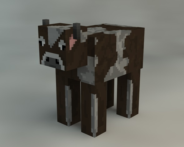 3DOcean Cow Minecraft 9315753