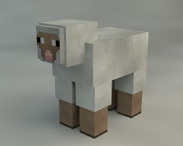 3DOcean Sheep Minecraft 9315767