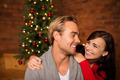 Attractive happy couple on Christmas day - PhotoDune Item for Sale