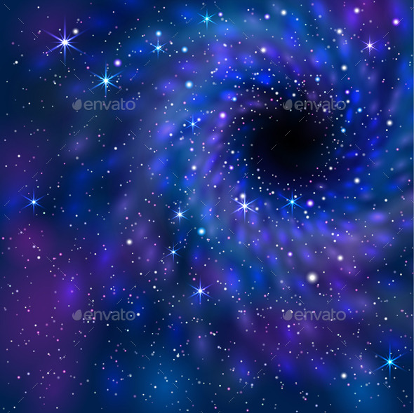 GraphicRiver Black Hole in Space 9315867