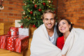Happy Romantic Young Couple During Christmas - PhotoDune Item for Sale