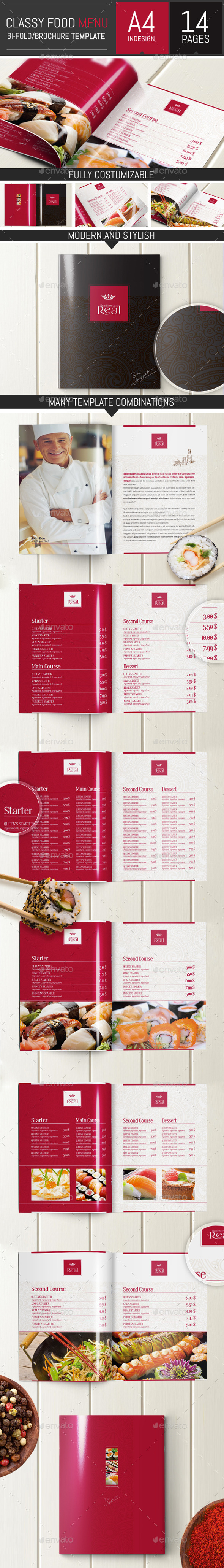 GraphicRiver Classy Food Menu Brochure Template 9315871