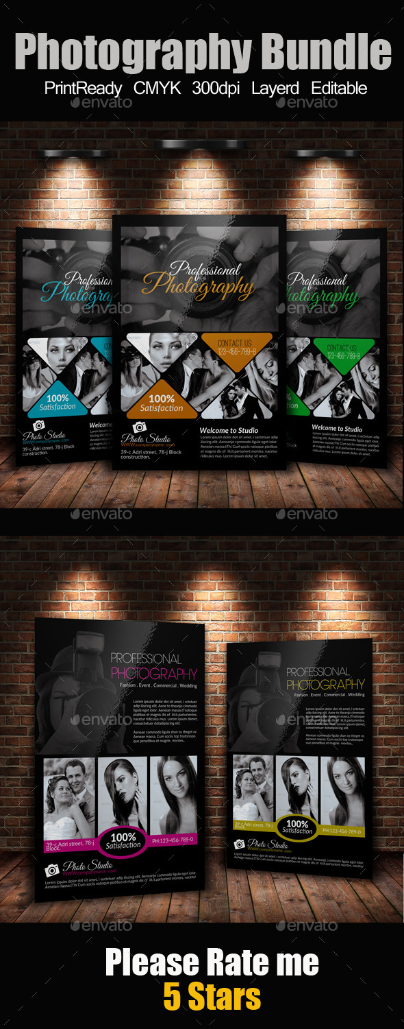 GraphicRiver A4 Photography Flyer Bundle 9315870