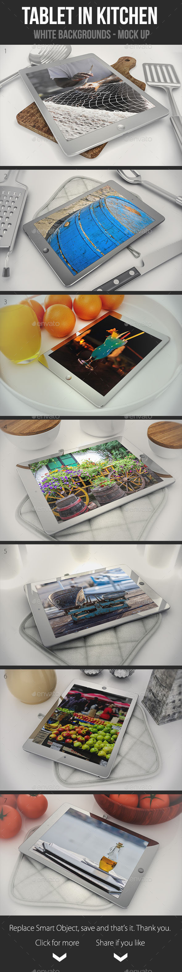 GraphicRiver Tablets in The Kitchen 9316442