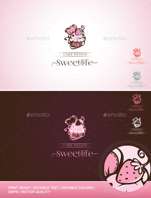 GraphicRiver Sweetlife Cup Cake Design Illustration Template 9316492