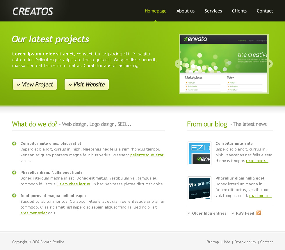 Creatos - Clean & Sytlish Website Layout