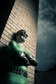 Cool superhero leaning to a brick wall - PhotoDune Item for Sale