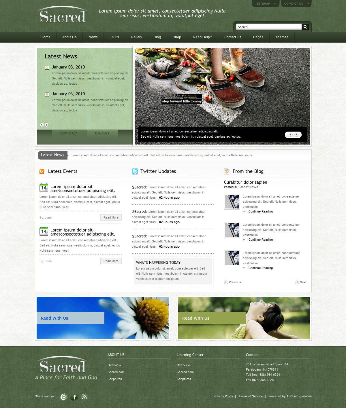 Sacred Space Xhtml Template