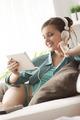 Girl watching videos on tablet - PhotoDune Item for Sale