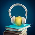 Apple with headphones - PhotoDune Item for Sale