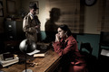 Detective interviewing a young pensive woman in his office - PhotoDune Item for Sale