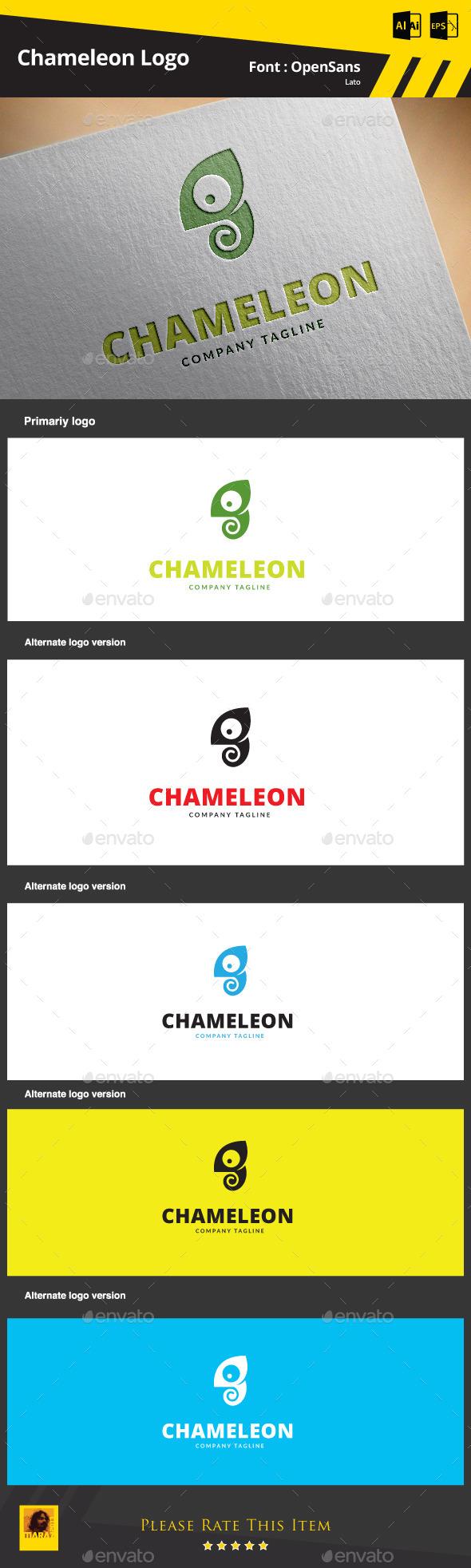 GraphicRiver Chameleon Logo Template 9317280