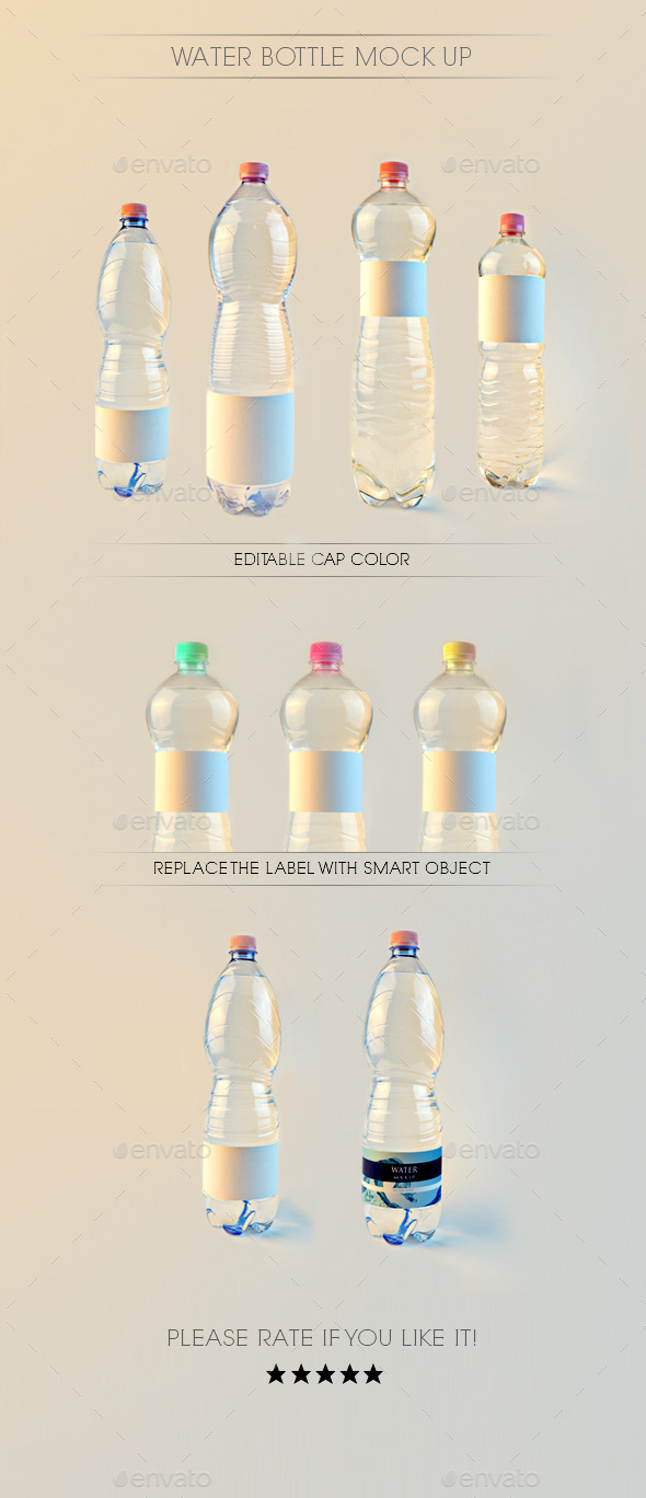 GraphicRiver Water Bottle Mock Up 9317500