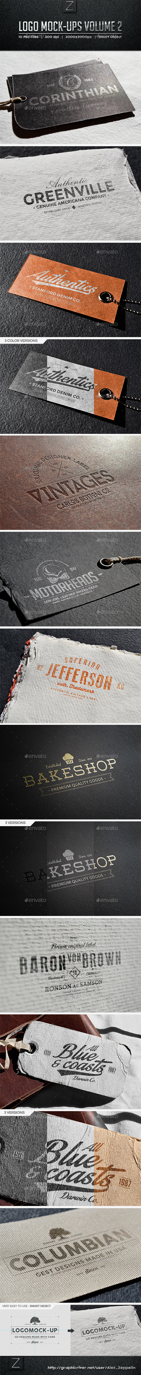 Logo Mock-ups Vol.2 - Logo Product Mock-Ups