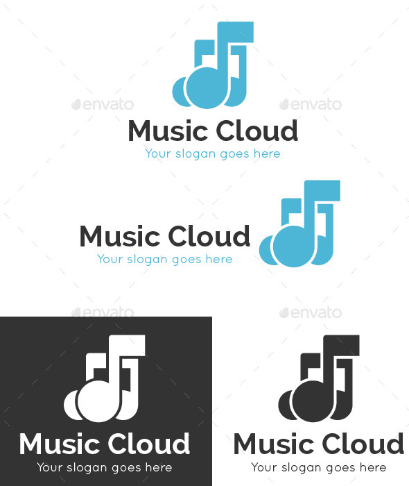 GraphicRiver Music Cloud Logo Template 9317619