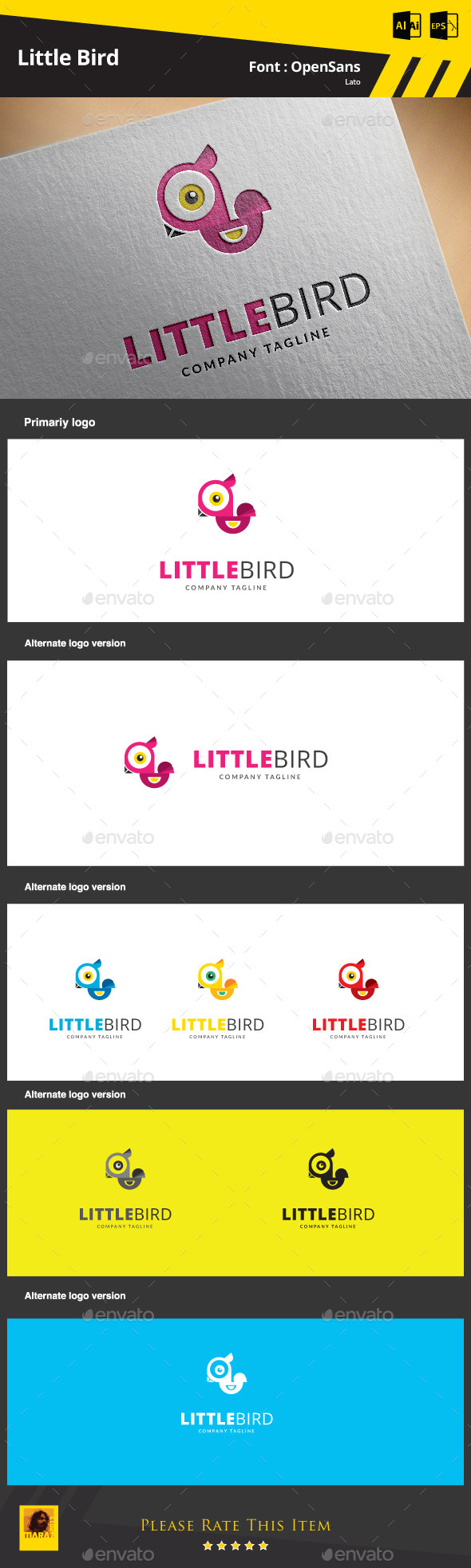 GraphicRiver Little Bird Logo Template 9317830