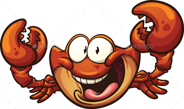 GraphicRiver Cartoon Crab 9317957