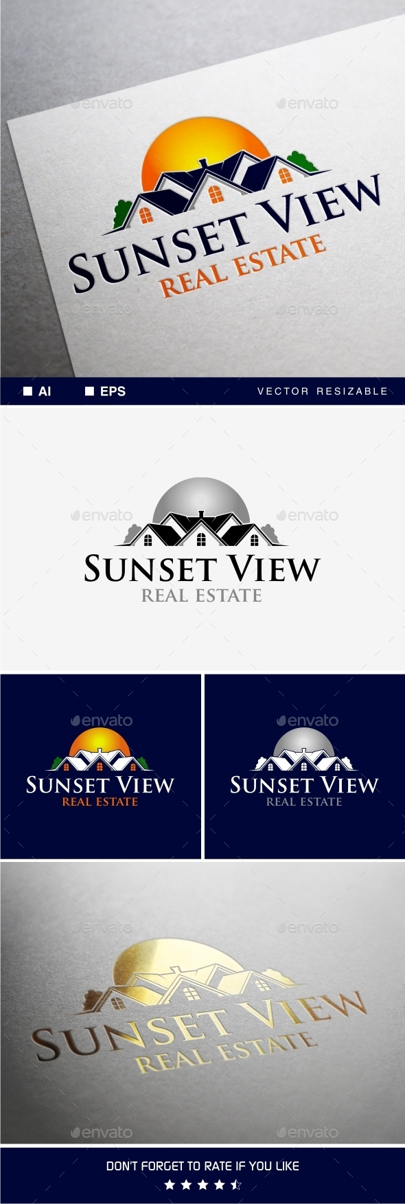 GraphicRiver Sunset View Logo 9318040