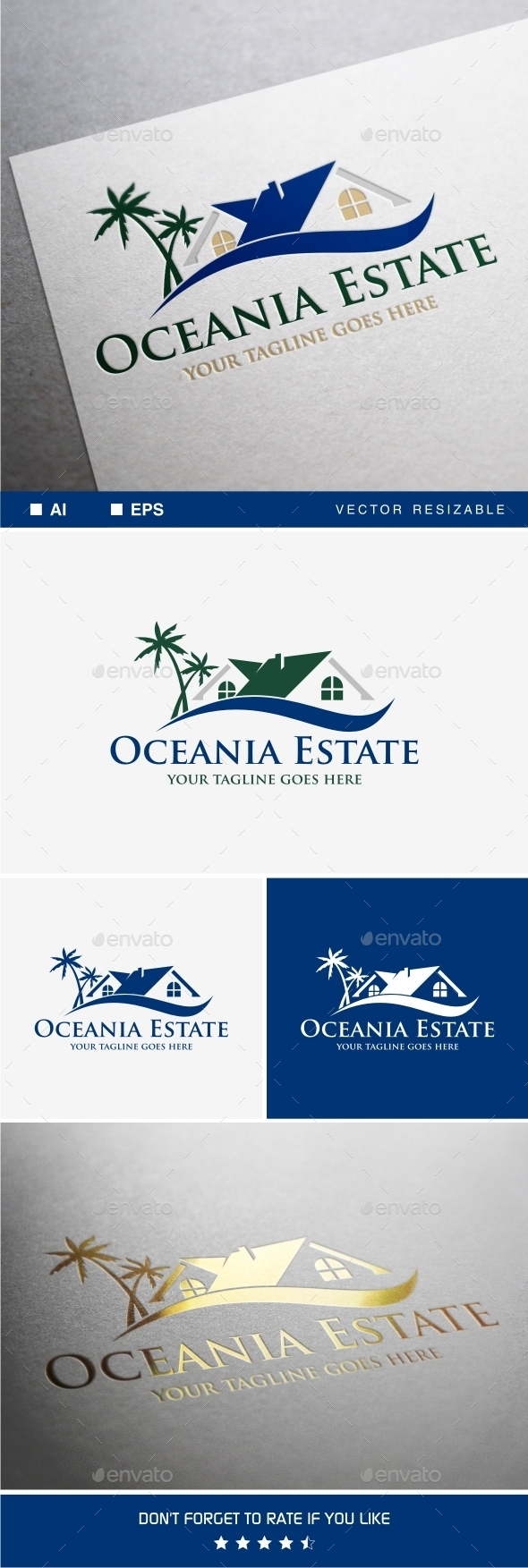 GraphicRiver Oceania Estate Logo 9318048