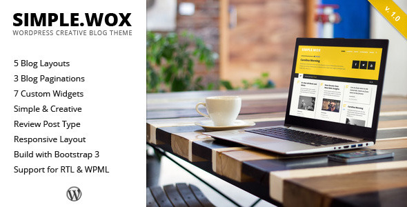 ThemeForest SimpleWox WordPress Creative Blog Theme 9318074