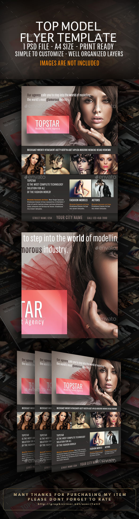 GraphicRiver Top-Star-Model-Agency-Flyer-Template 9318107