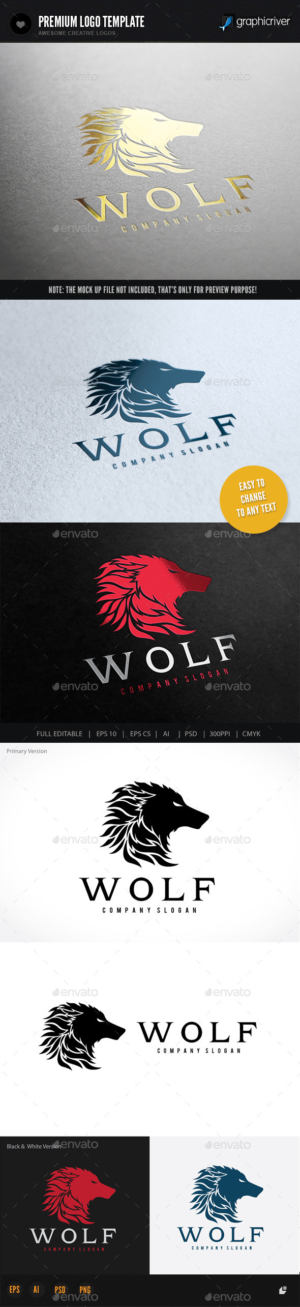 GraphicRiver Wolf 9318437