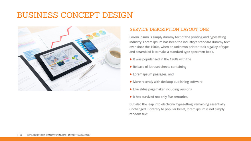 Business Profile PowerPoint Template by SlideSam – How to Make Business Profile