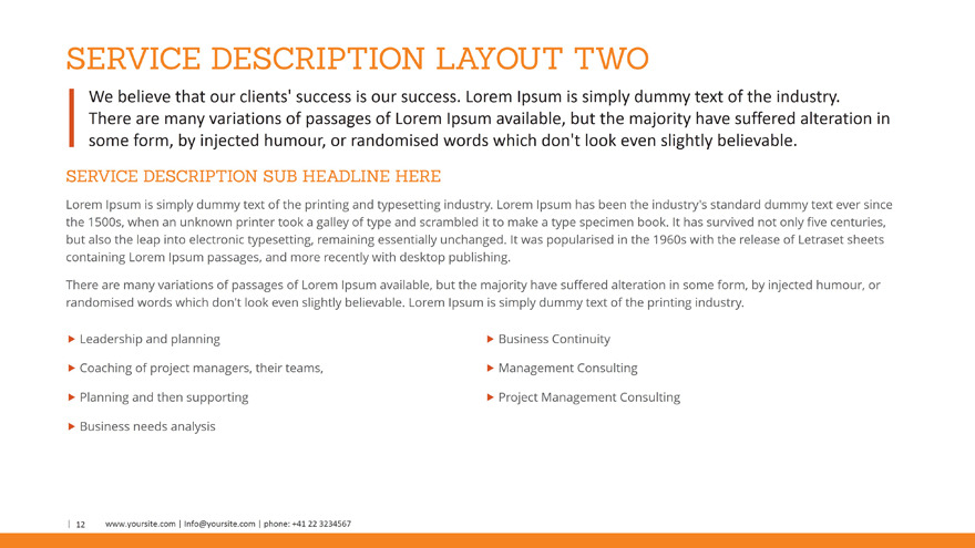 Business Profile PowerPoint Template by SlideSam – Business Profile Template