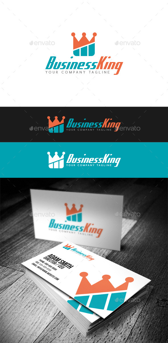 GraphicRiver Business King Logo 9318478