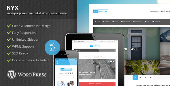 Nyx is Wordpress Theme with Multipurpose design. There are four different home layouts for Corporate, Lawyer, University and Medical. Our template makes it spec