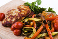 Chicken Cutlet with Garnish and Greens - PhotoDune Item for Sale
