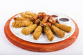 Chicken Wings and Nuggets with 3 Kind of Sauce - PhotoDune Item for Sale
