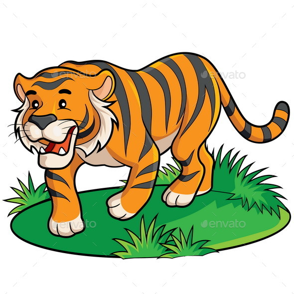 GraphicRiver Tiger Cartoon 9318885