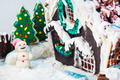 snowman and gingerbread house of sweets for Christmas - PhotoDune Item for Sale