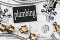 plumbing and a blackboard with the text - PhotoDune Item for Sale