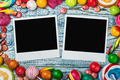 photo frame lies on sweets and candies - PhotoDune Item for Sale