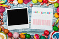 photoframe lies on sweets and candies - PhotoDune Item for Sale