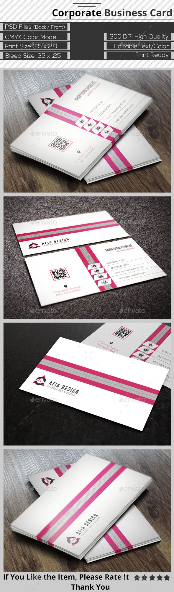 Clean Creative Corporate Business Card