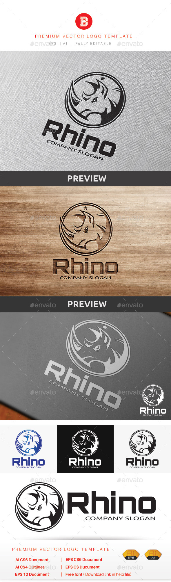 GraphicRiver Rhino Logo 9318949