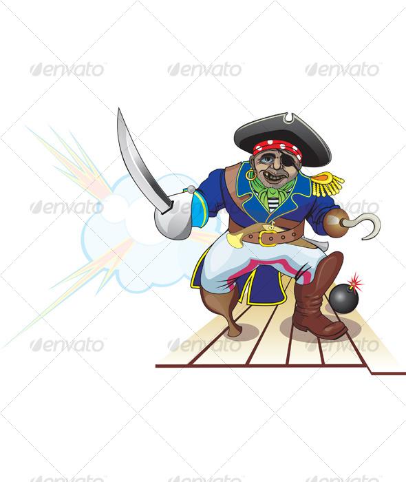 Graphic River Pirate attack Vectors -  Conceptual 119667