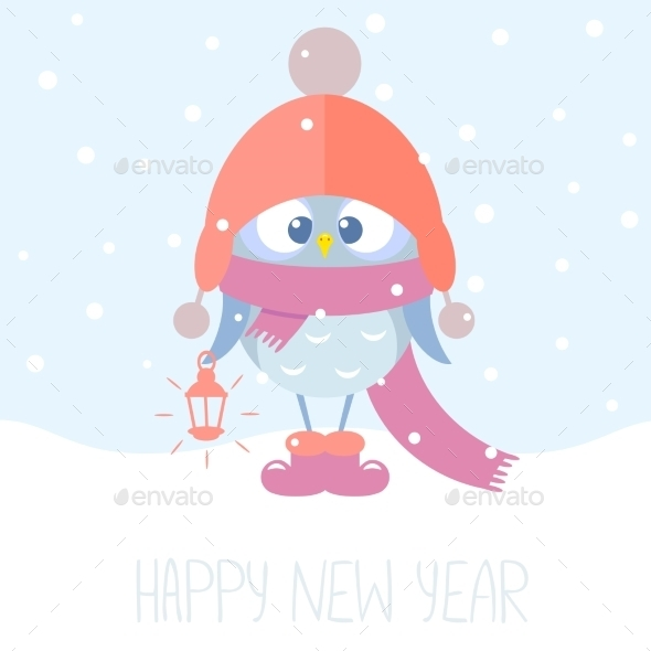 GraphicRiver Owlet Winter 9319037
