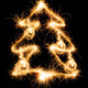 Christmas tree made by sparkler on a black - PhotoDune Item for Sale