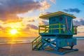 Miami South Beach at sunrise - PhotoDune Item for Sale