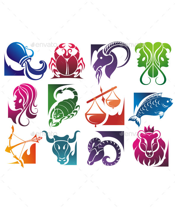 GraphicRiver Set of Zodiac Symbols 9319146