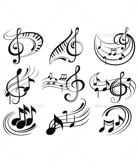 GraphicRiver Music Notes 9319152