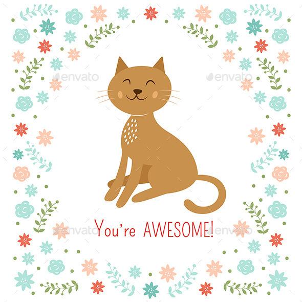GraphicRiver Cat Illustration 9319153
