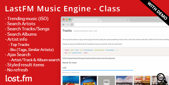 CodeCanyon LastFM Music Engine Artist Tracks Albums Info 9278307